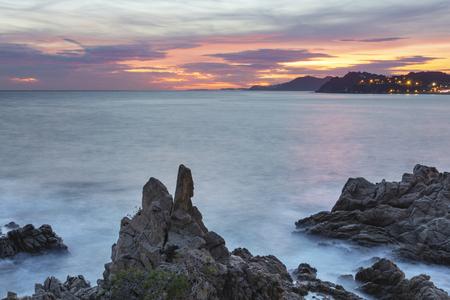 Sunset, Camino de Ronda, Catalonia, Spain Stock Photo