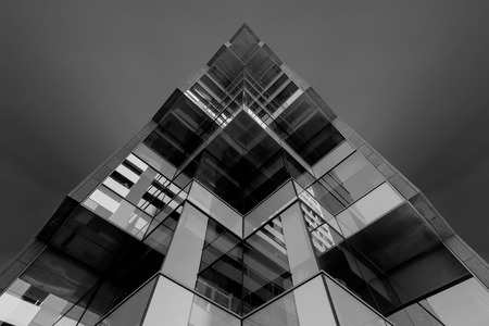 Perspective view building, Black and white