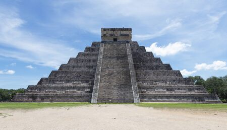 Chichen Itza. Archeological ruins in Mexico 스톡 콘텐츠