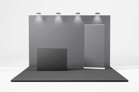 Exhibition Stand elegant Design, 3d rendering