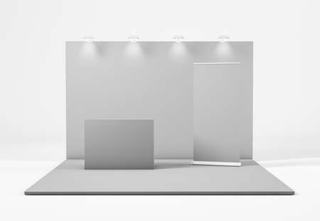 Exhibition Stand isolated from white background, 3d rendering