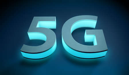 5 G symbol, concept of internet connection technology
