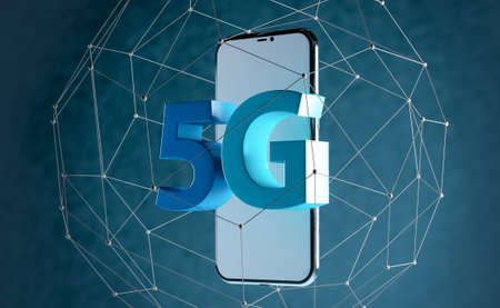 5 G concept of internet connection technology, abstract image visual