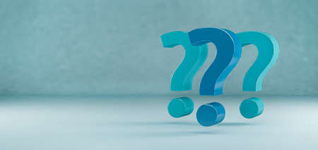 Question marks question concept with copy space