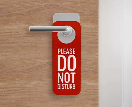 Do not disturb, door hanger at the door