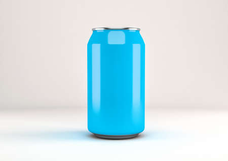 Aluminum can of soda isolated the background in 3d rendering 版權商用圖片