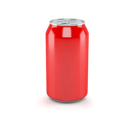Red soda can isolated from the background 版權商用圖片