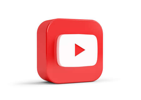 YouTube icon isolated from the background