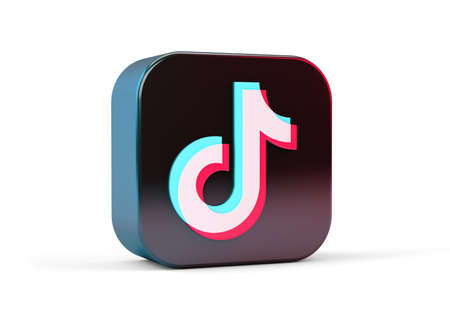 TikTok icon isolated from white background