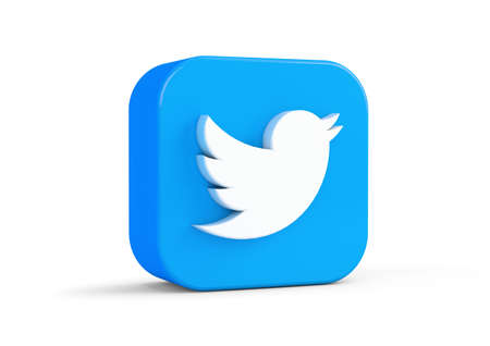 Twiter icon isolated from the background