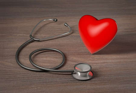 Medical stethoscope, Heart Health concept