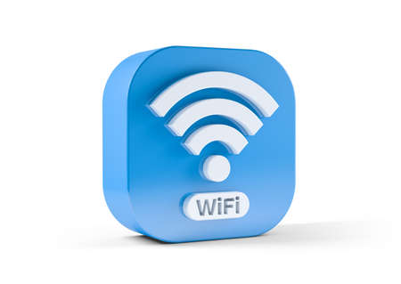 Wifi icon isolated on white background. 3d illustration