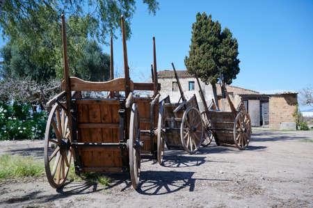 Old carts at farmers market