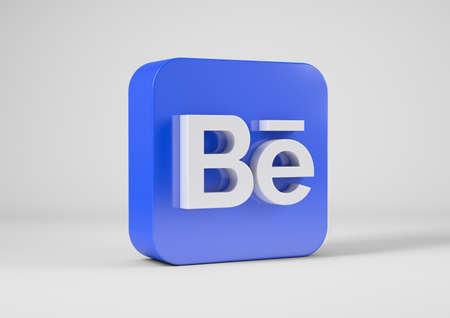 Behance logo in 3d rendering Redakční