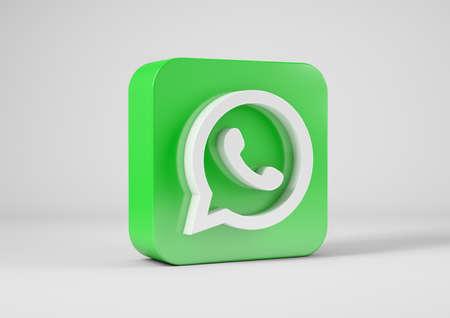 Whats App logo in 3d rendering Redakční