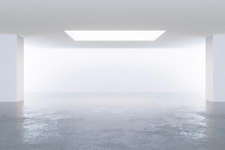 dark interior: Modern empty dark interior, 3d render