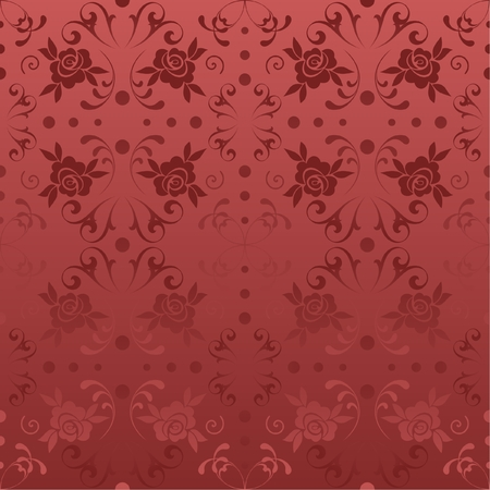 Seamless damask wallpaper, vector illustration