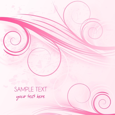 swirl composition: Abstract pink background with place for text, vector illustration Illustration