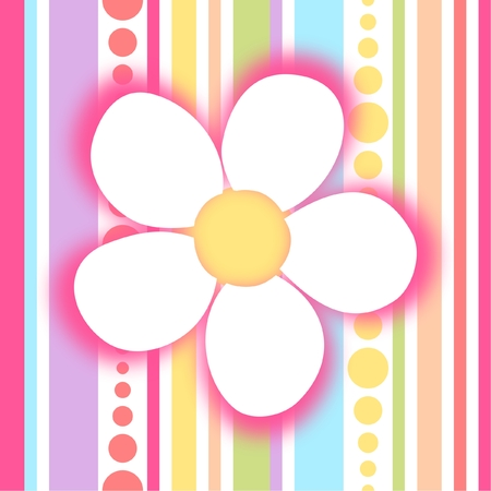 Colorful background with flower, vector illustration Illustration