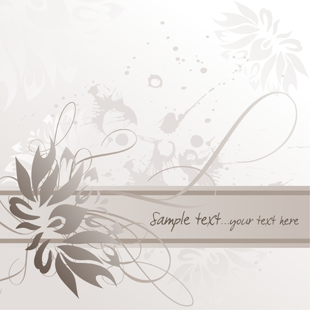 gentle: Delicate floral background with place for text, illustration Illustration