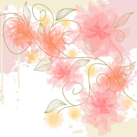 Delicate flower background Illustration