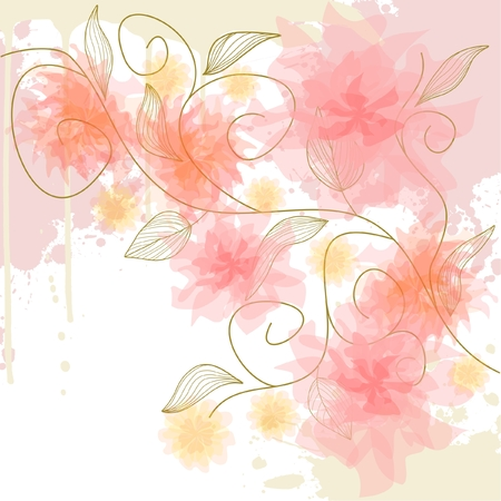 Delicate flower background Illustration