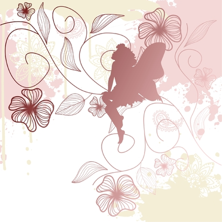Delicate fairy shape with flowers