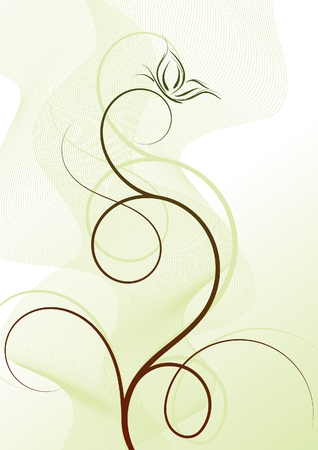 Delicate background with butterfly Stock Vector - 7406739