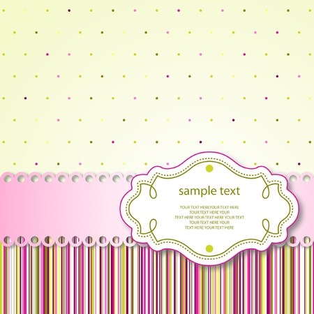 Cute template frame design for greeting card