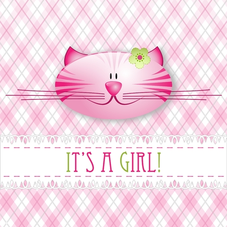 Its a girl! - baby card Vector