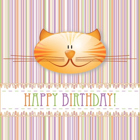 Happy birthday! - greeting card Vector