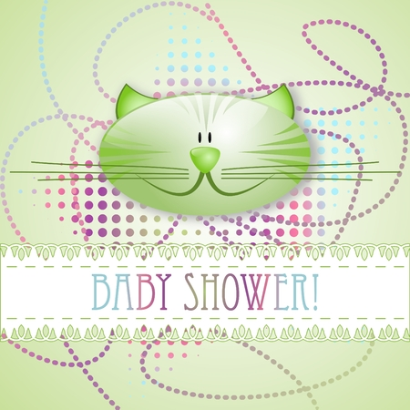 Baby shower! - greeting card Vector