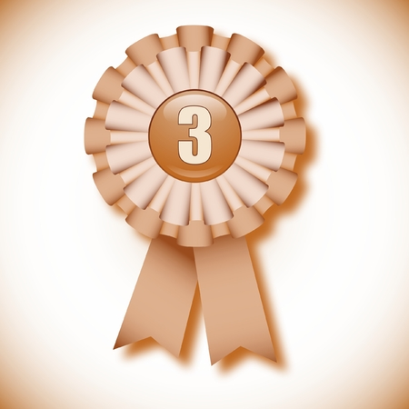third: Third place decoration cockade