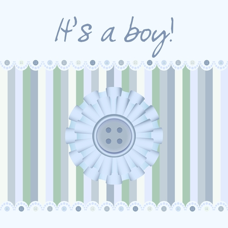 Its a boy! - baby card Illustration