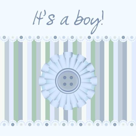 its a boy: Its a boy! - baby card Illustration