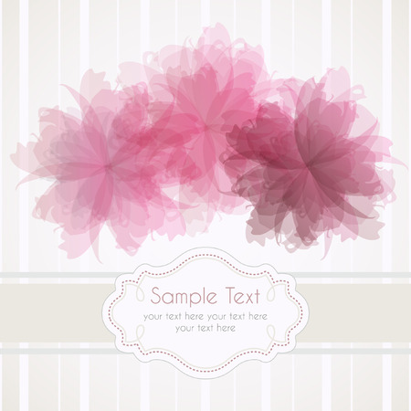 Romantic template frame design for greeting card Illustration