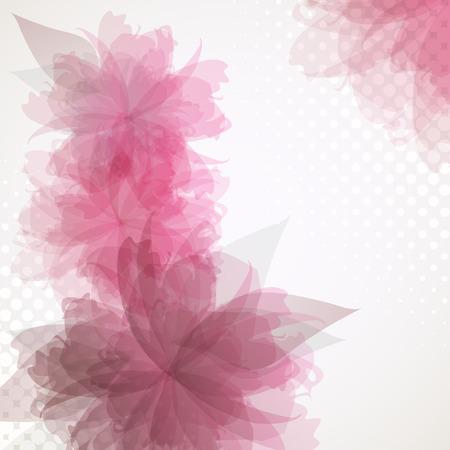 Transparent flowers background Illustration