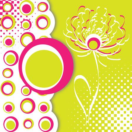 mums: Tarjeta floral o fondo