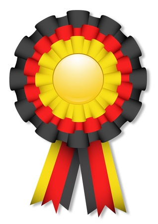 Yellow, red and black cockade Vector