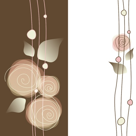 Delicate floral background