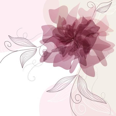Delicate floral background Banco de Imagens - 9184830
