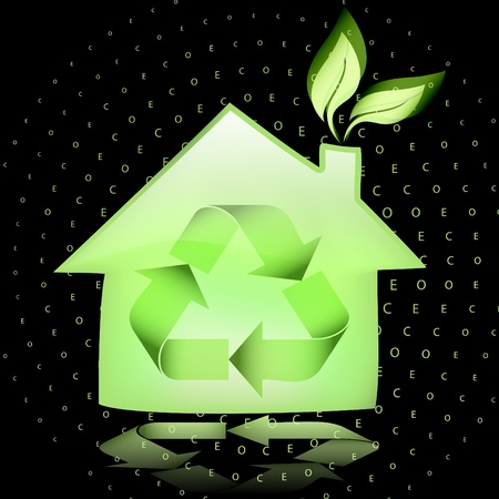 green eco: Green eco house Illustration