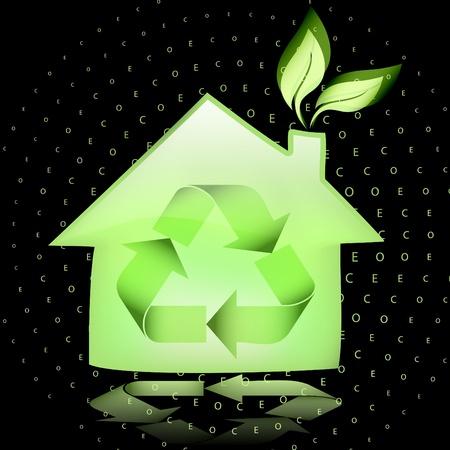 Green eco house Stock Vector - 9224720