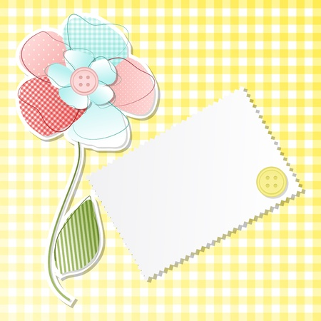 Squared background with flower and copy space Vector