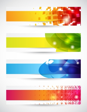 Set of four headers or banners with copy space Vector
