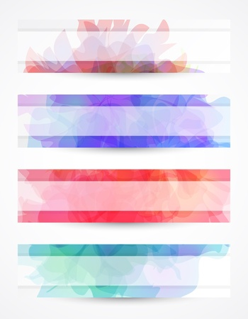 Delicate header or banner with transparent background Stock Vector - 9488795