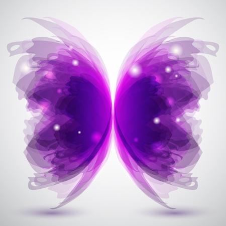 Achtergrond met transparante vlinder vorm Vector Illustratie