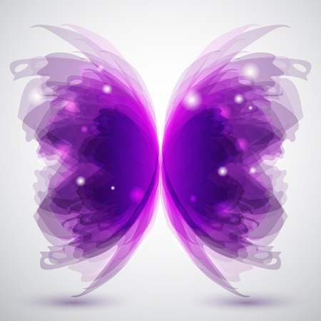 butterfly wings: Background with transparent butterflys shape Illustration