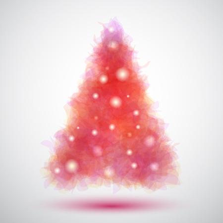 silhouette arbre hiver: Arbre de No�l d�licate et transparent Illustration