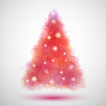 Delicate and transparent christmas tree Vector